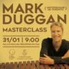 Cartaz divulgação masterclass com Mark Duggan